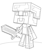 Free Printable Minecraft Coloring Pages H Amp M Coloring Pages