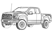 ford f150 pickup truck coloring page free printable coloring pages