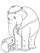 mr stork delivers baby dumbo coloring page free printable