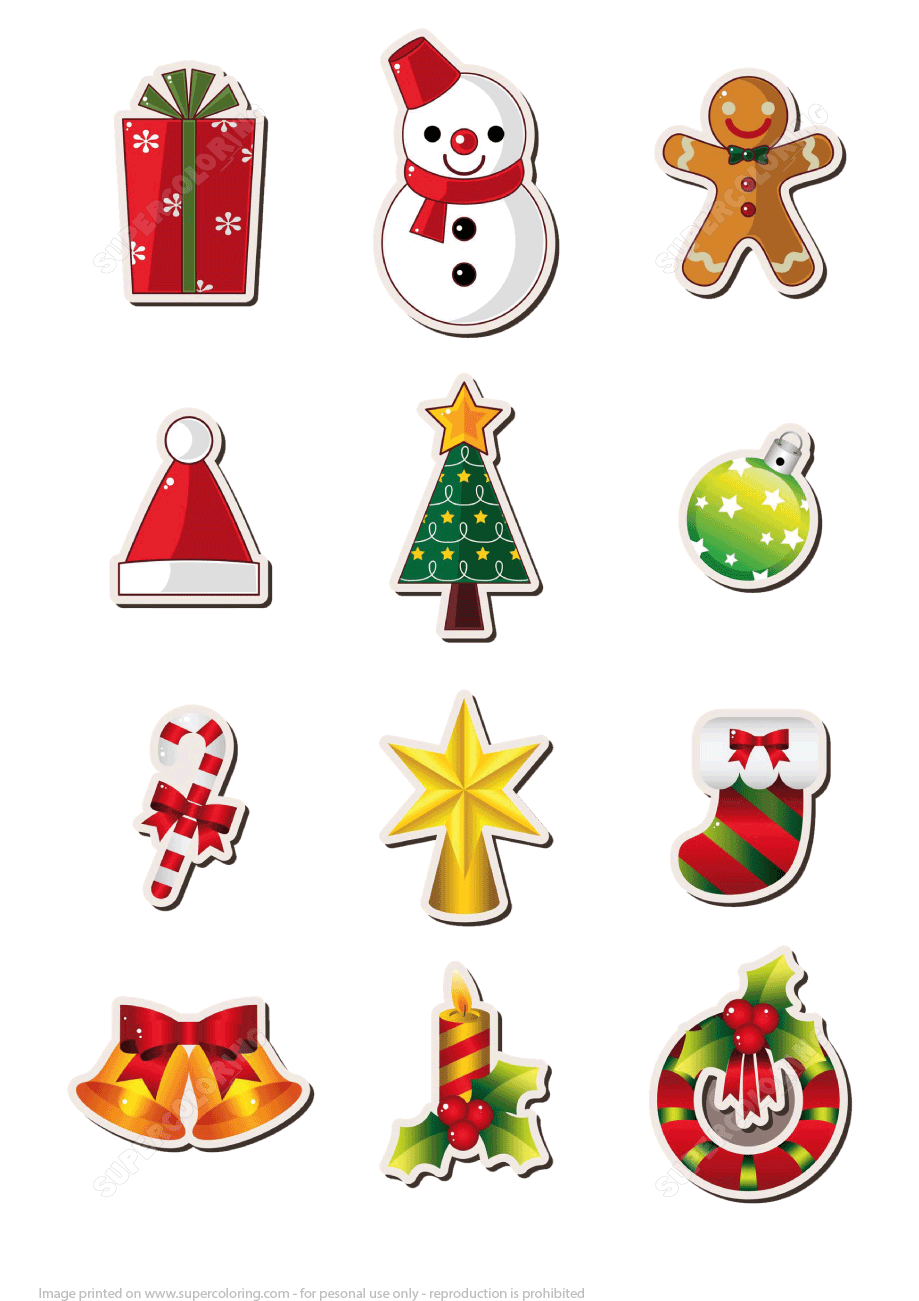 Printable Christmas Stickers Free Printable Papercraft
