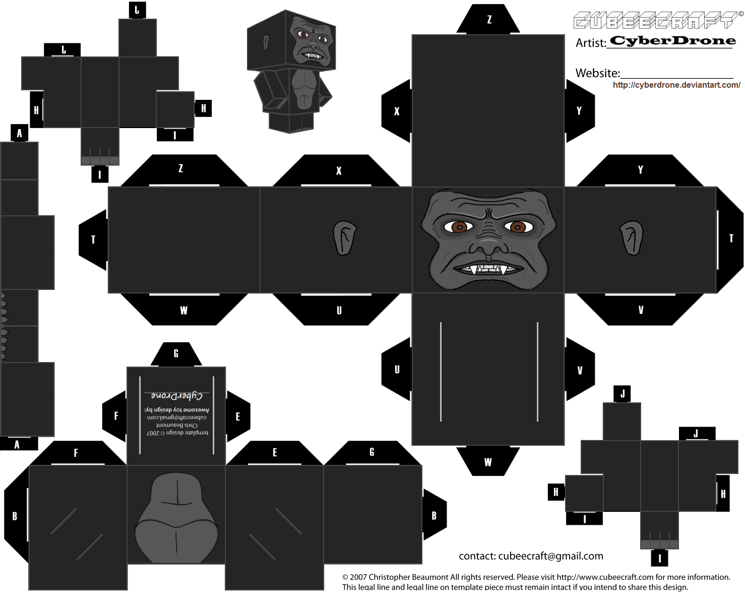 King Kong Paper Toy