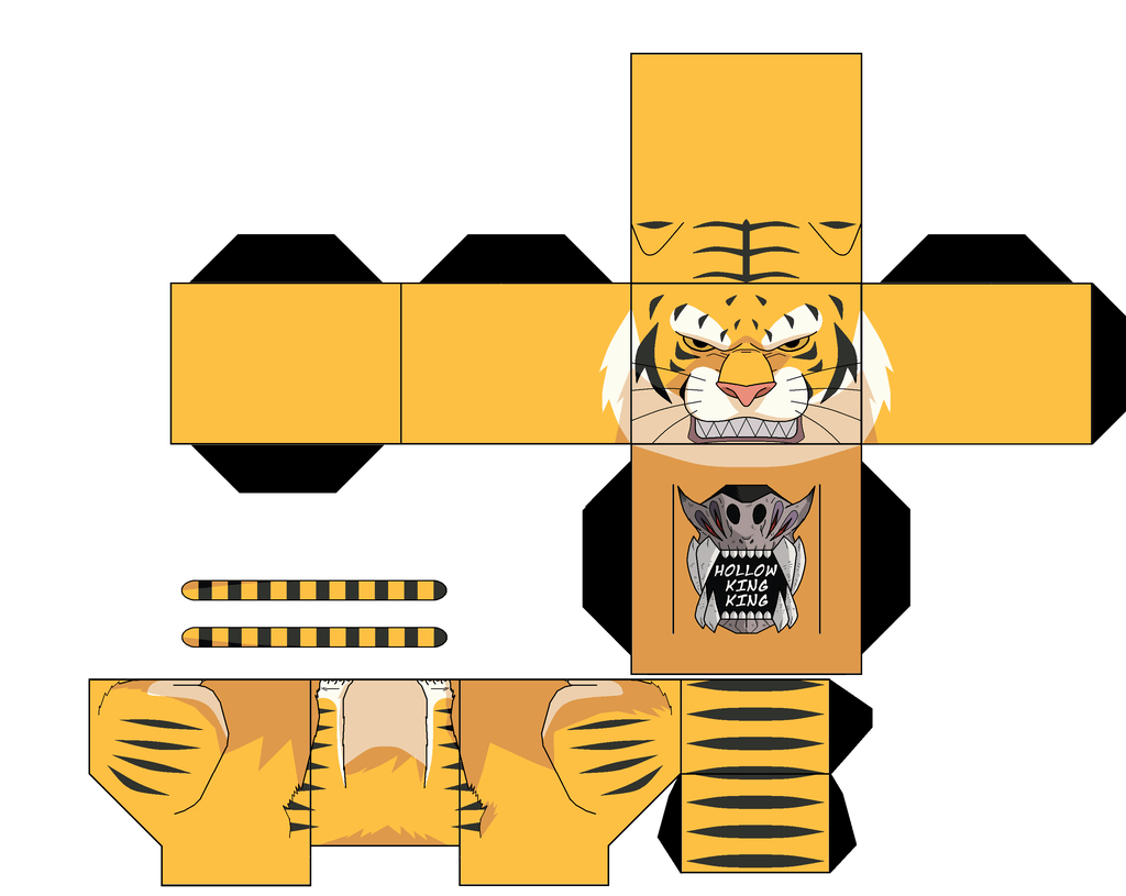 Giant Tiger Paper Toy