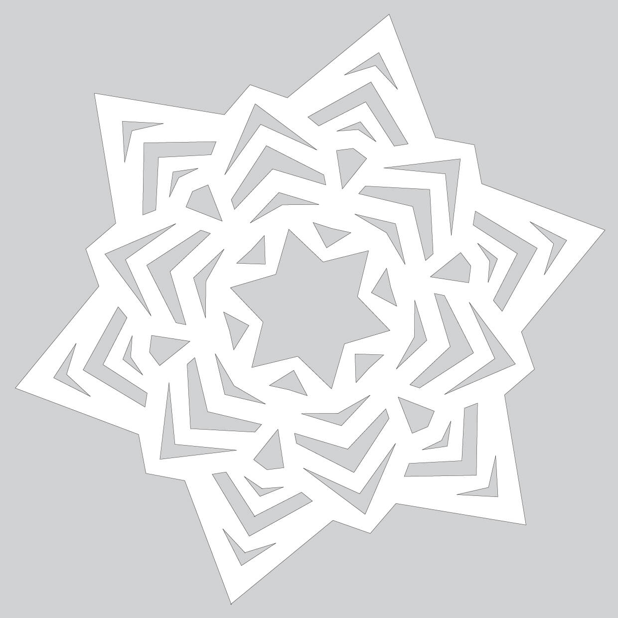 How To Make Easy Snowflake Ornament Tutorial Template