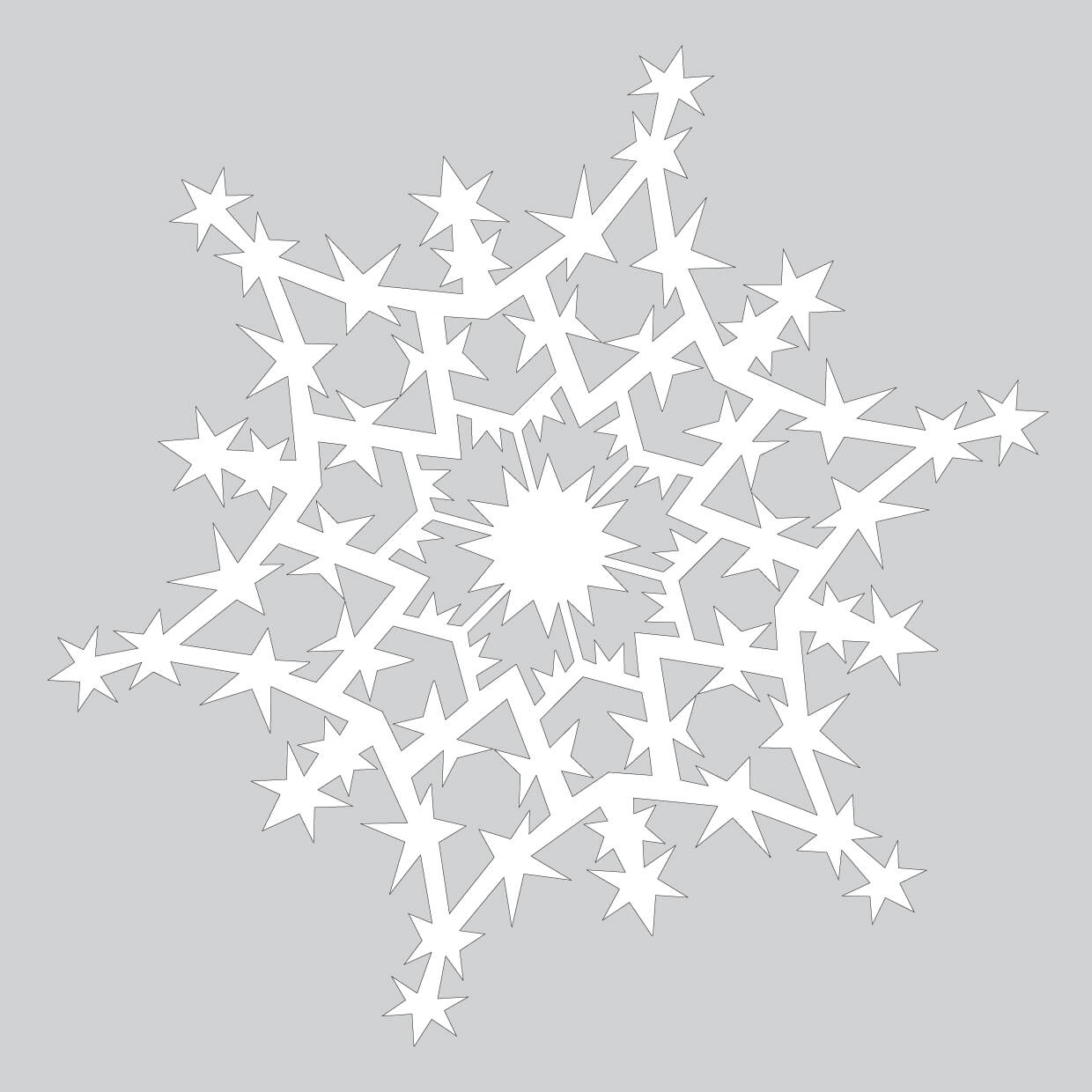 How To Make Sparkling Paper Snowflake Pattern