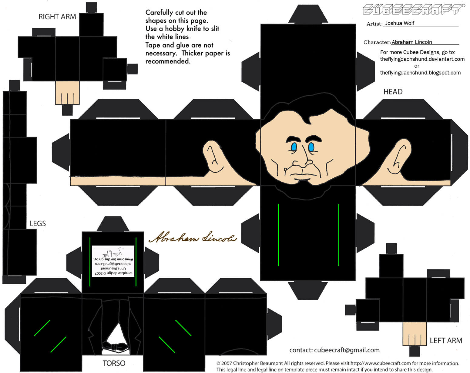 Abraham Lincoln Paper Toy
