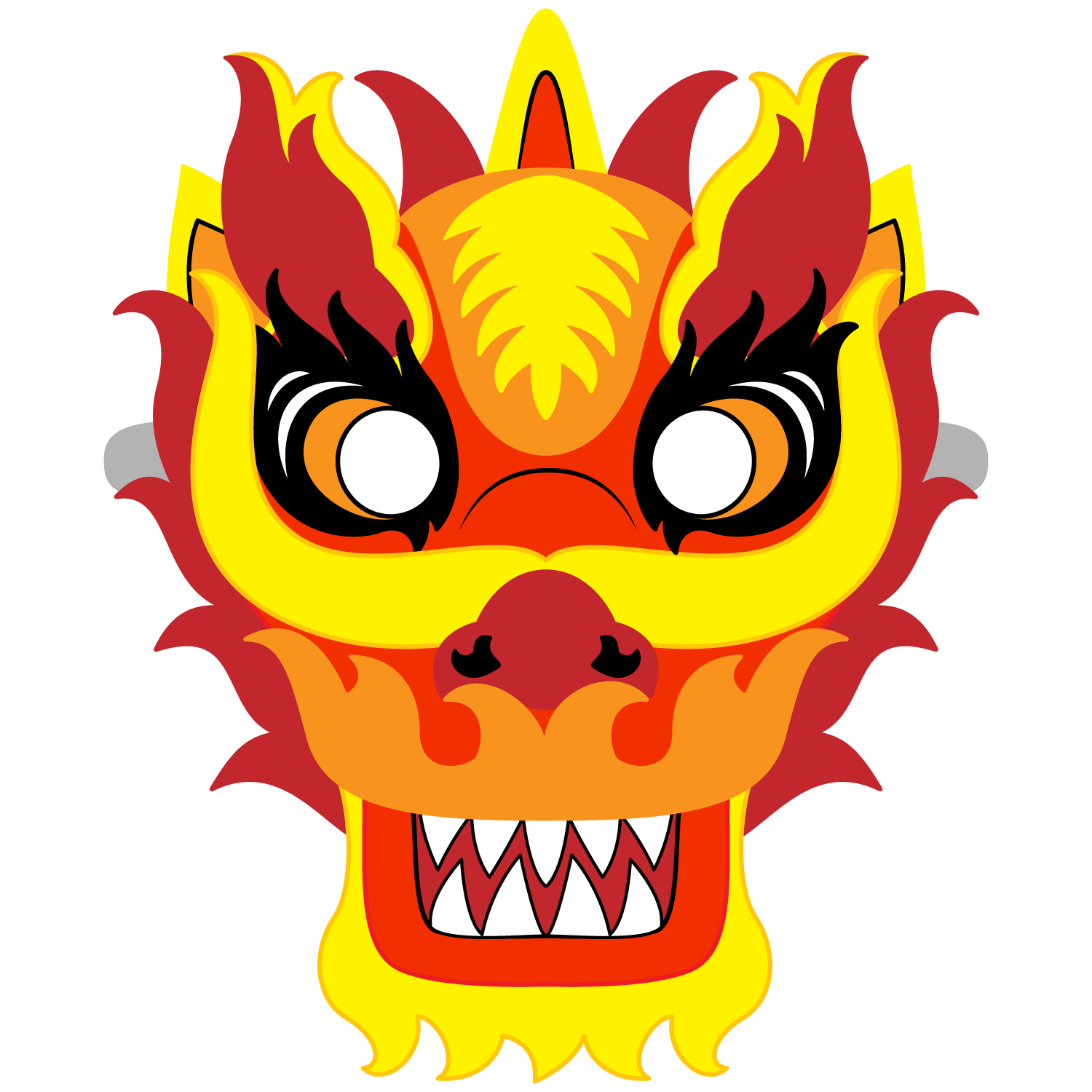 Chinese New Year Dragon Mask Template