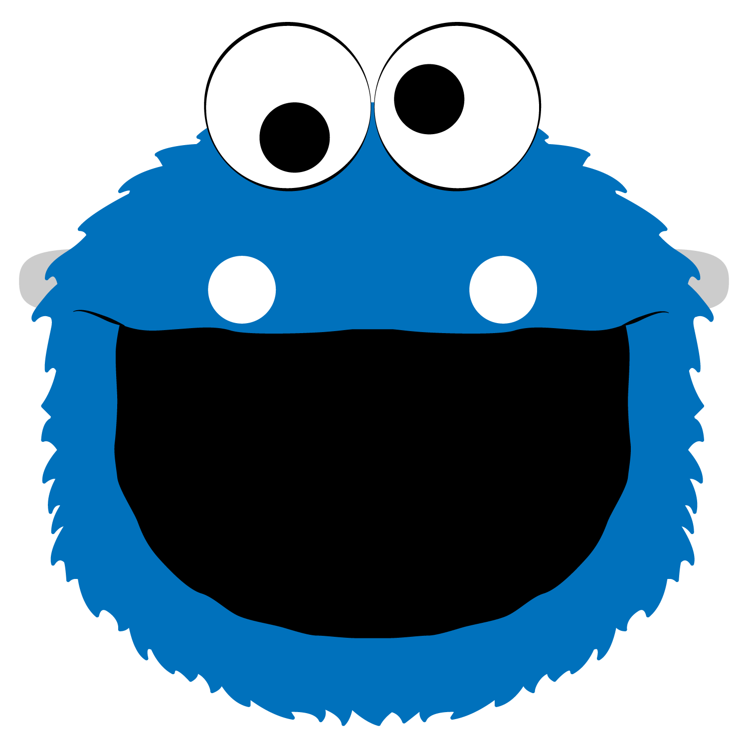 Cookie Monster Mask Template