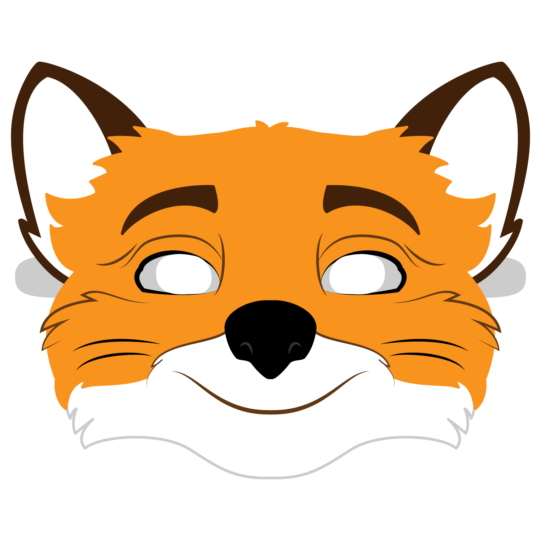 Fantastic Mr Fox Mask Template