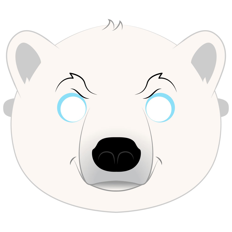 Polar Bear Mask Template Free Printable Papercraft Templates