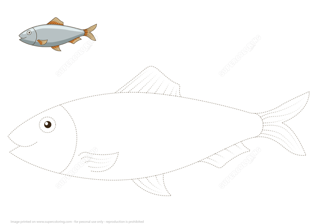 Connect The Dots To Draw The Herring Fish Free Printable Puzzle