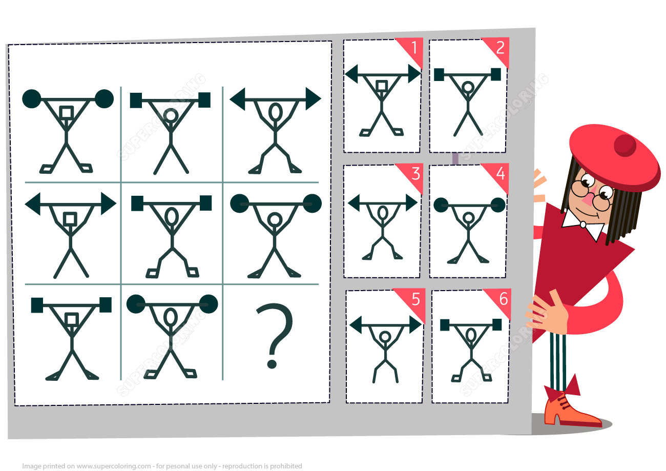 Find The Missing Weightlifter Visual Brain Teaser For