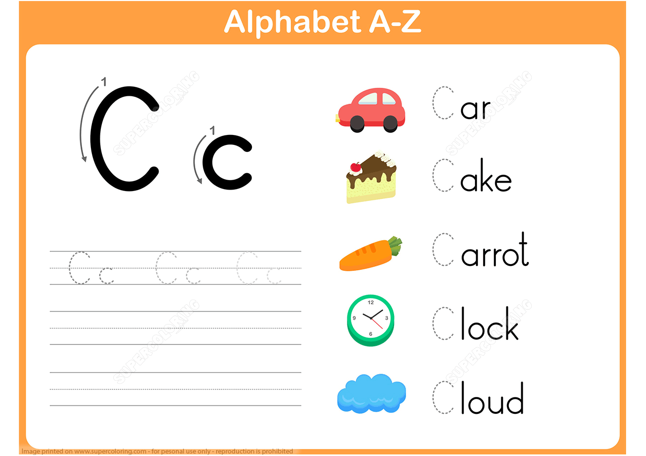 Letter C Practice Worksheet