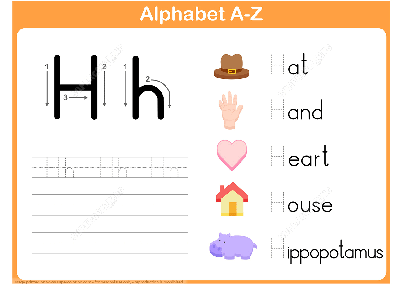 Sorting Letter H Worksheet