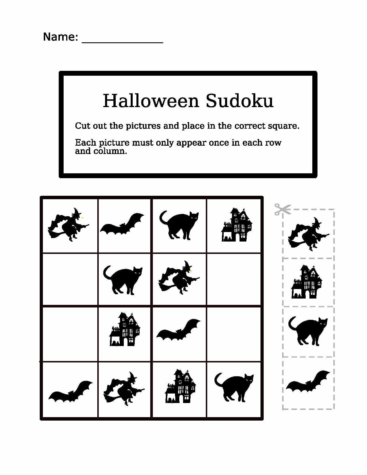 Halloween Easy Sudoku