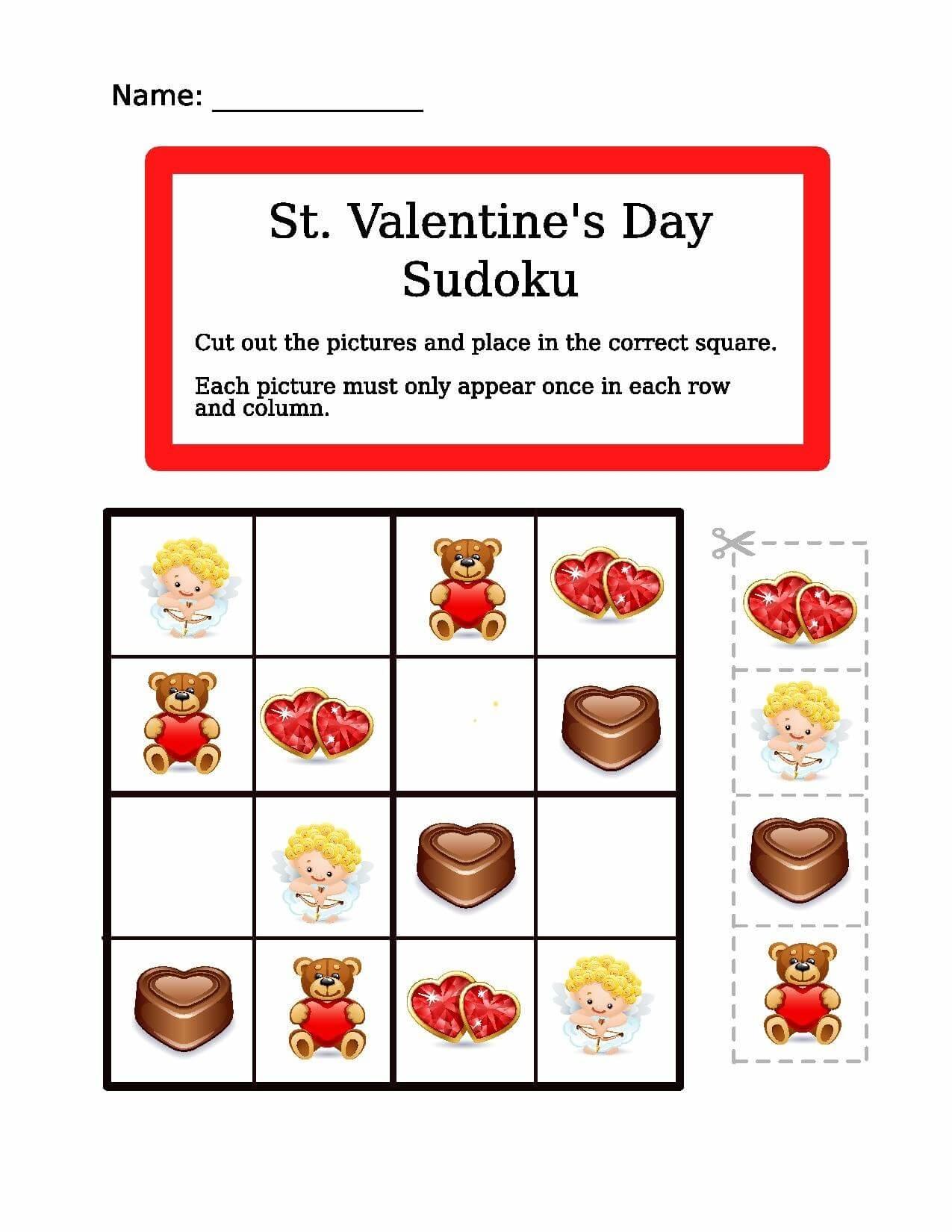 Saint Valentine Picture Sudoku