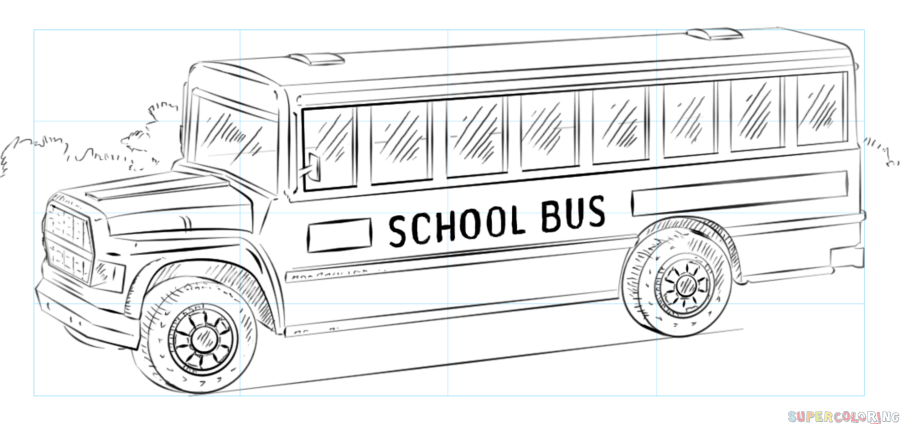 Image result for sketches of old school buses