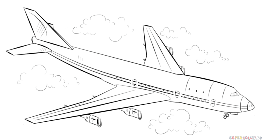 how to draw an airplane step by step drawing tutorials