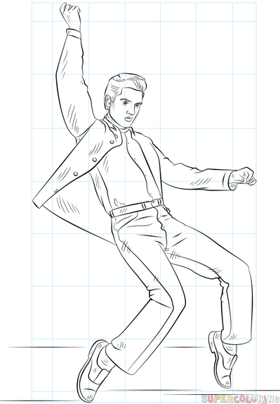 how to draw elvis presley step by step drawing tutorials