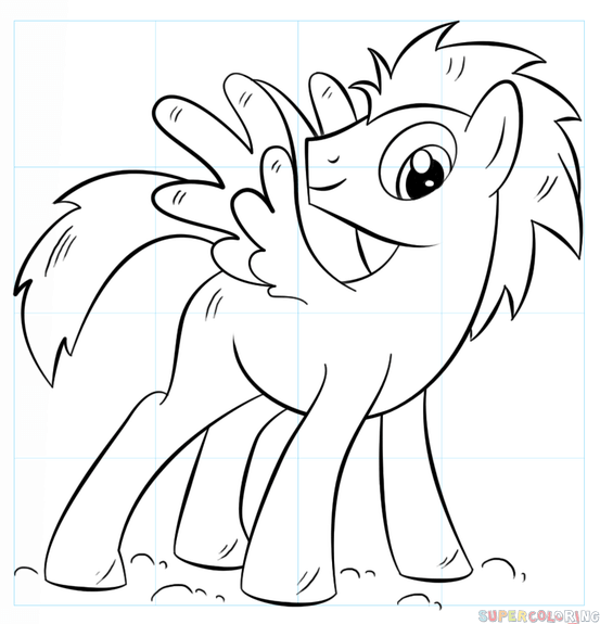 How To Draw My Little Pony Pegasus Step By Step Drawing Tutorials
