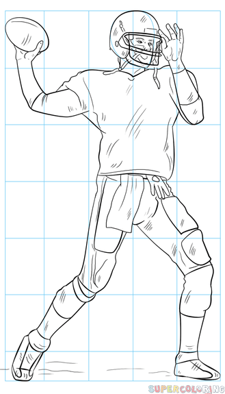 How To Draw A Football Player Step By Step Drawing Tutorials