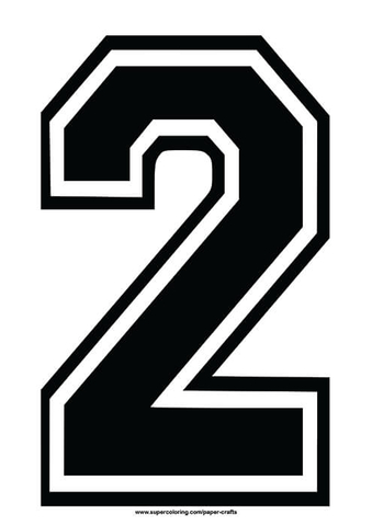 Number 2 Template Choice Image Template Design Ideas