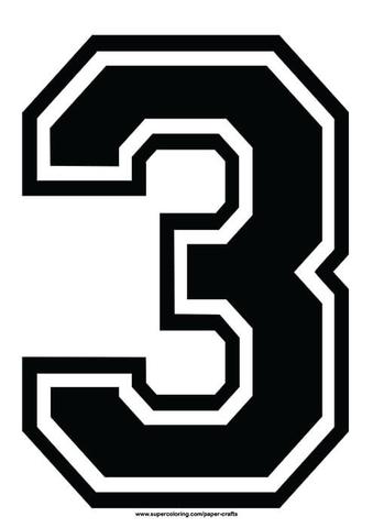 number 3 # 12