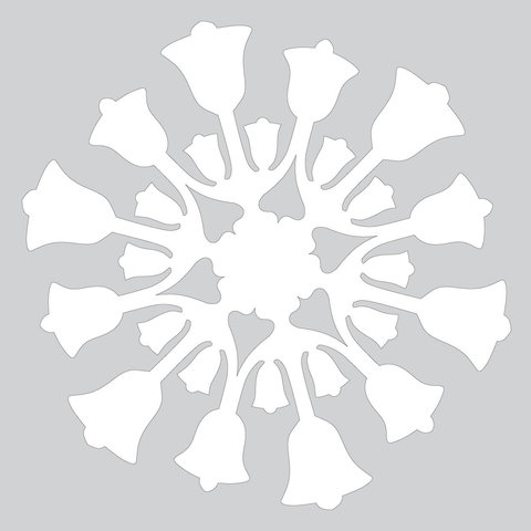 Paper Snowflake Pattern With Bells Cut Out Template Free