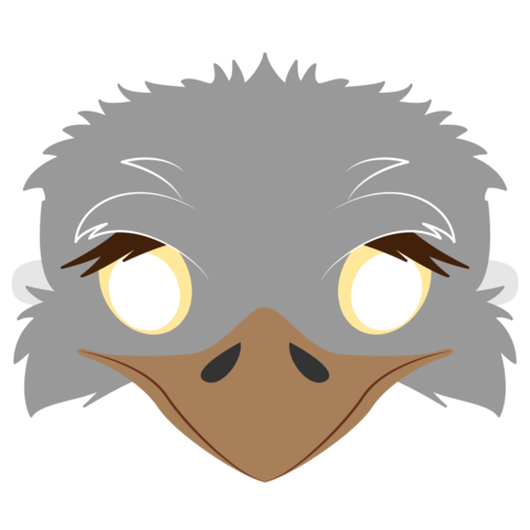 Ostrich Mask Template Free Printable Papercraft Templates