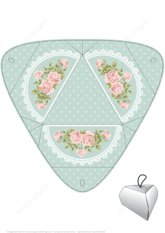 Handmade Gift Box Template With Roses Free Printable