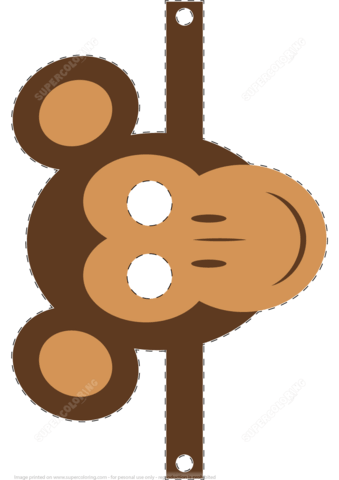 Monkey Mask Template Free Printable Papercraft Templates