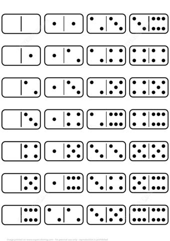 Printable Dominoes Set Template Free Printable