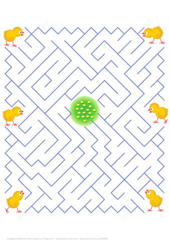 Help Every Chicken To Find Its Own Way To The Yummy Corn