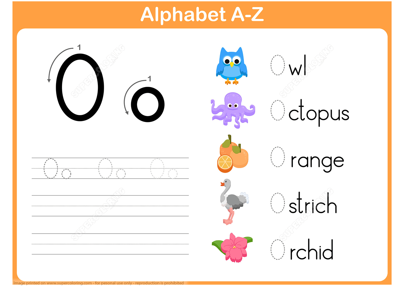 Letter O For Octopus Worksheet