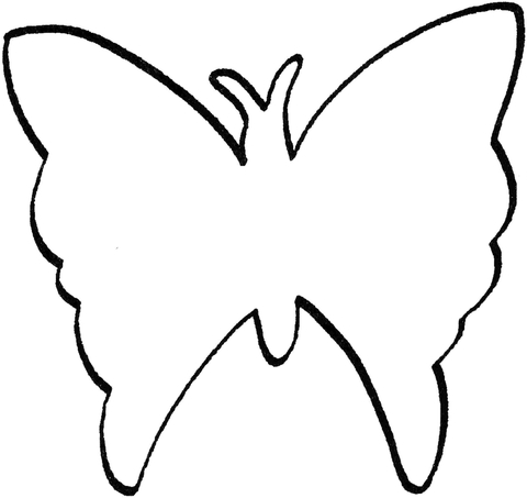 butterfly outline page supercoloring com