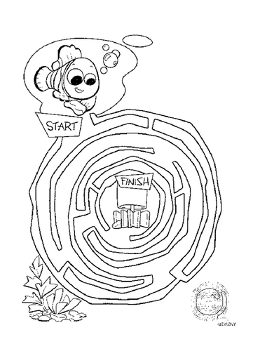 40739mjkft easy mazes coloring page