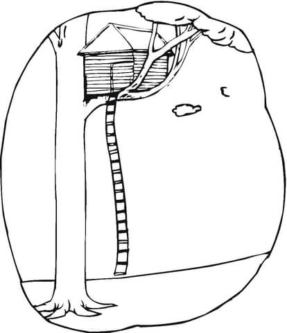 house on the tree coloring page super coloring