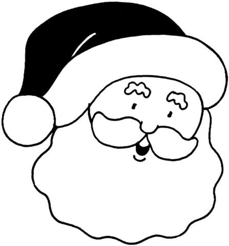 santa s face coloring page super coloring
