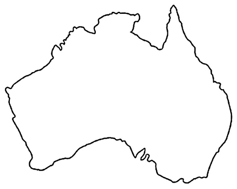 map of australia coloring page supercoloring com