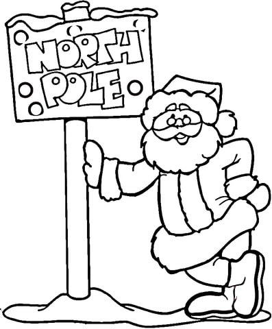 north pole and santa supercoloring com
