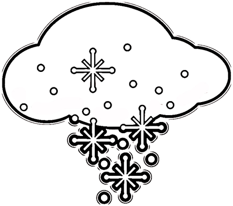 flakes in the cloud coloring page super coloring