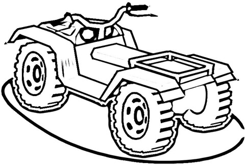 atv coloring page free printable coloring pages