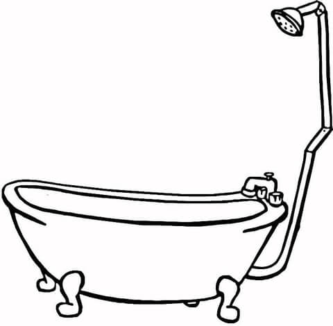 bathtub coloring page supercoloring com