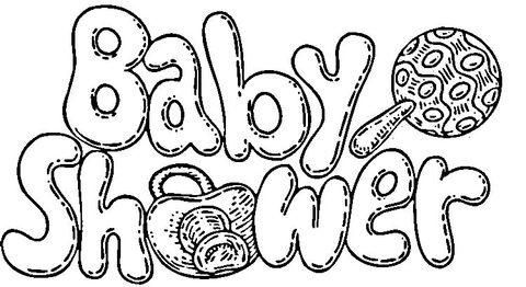 baby shower coloring pages online coloring
