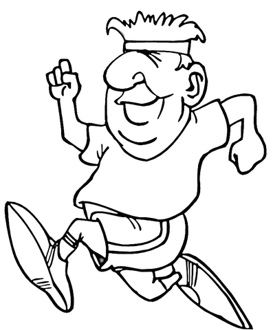 running coloring page supercoloring com