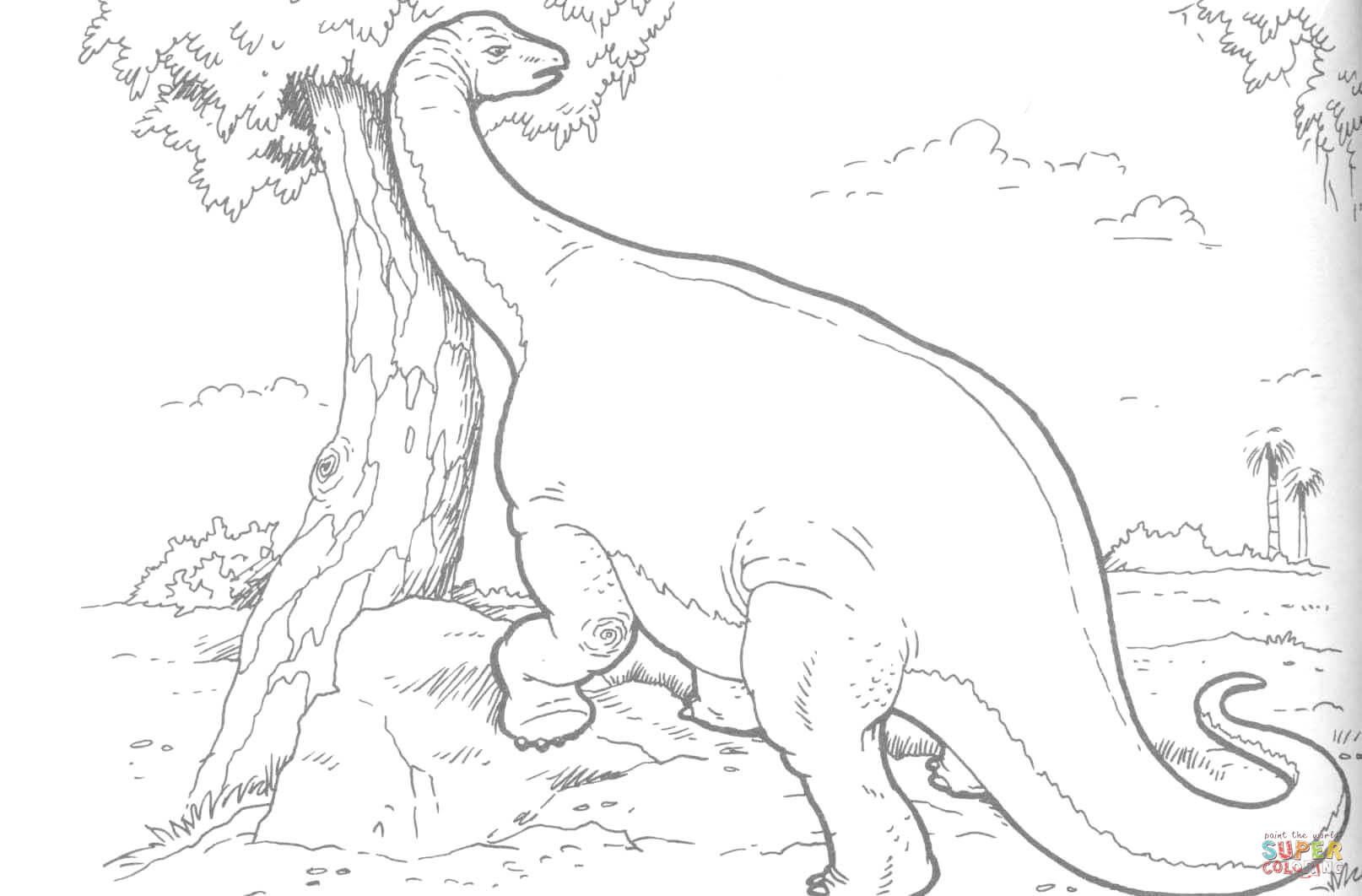 brachiosaurus dinosaur coloring online super coloring