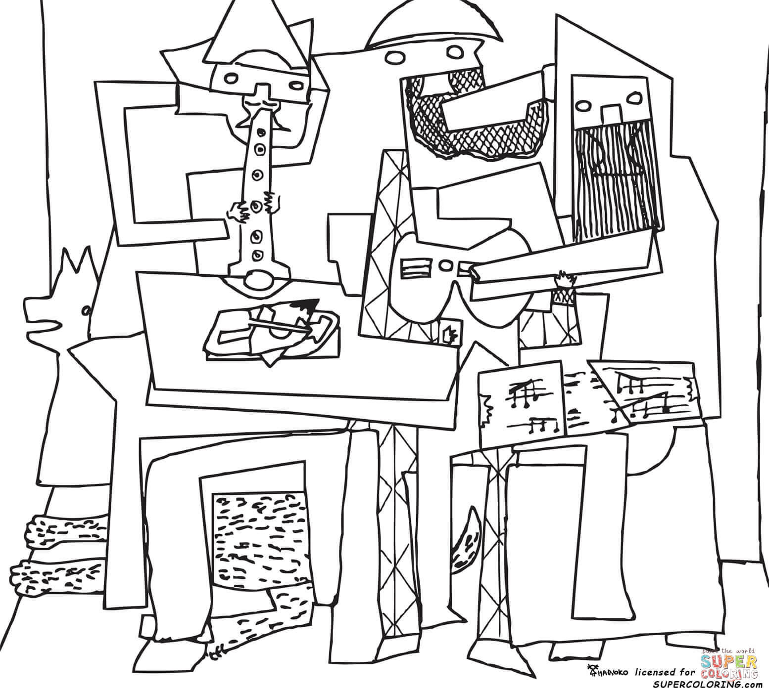 Cubism Coloring Book Coloring Pages