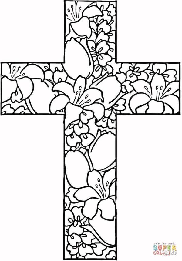 jesus on the cross coloring page # 35
