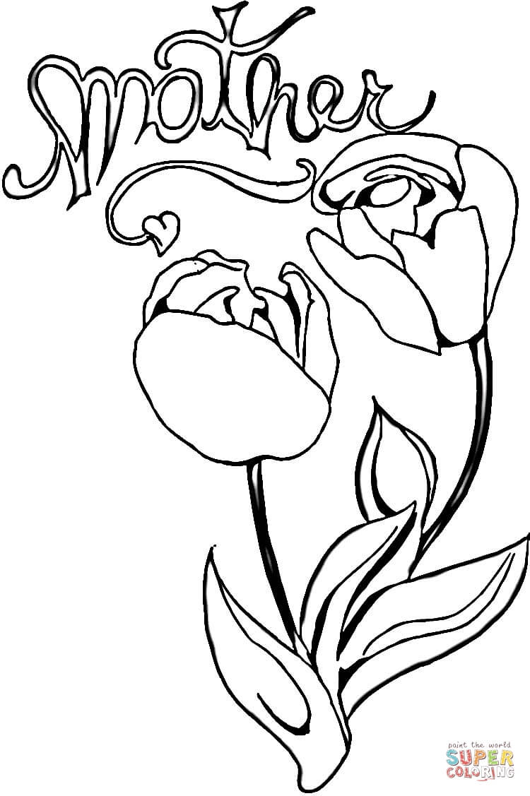 coloring pages for your mom coloring pages