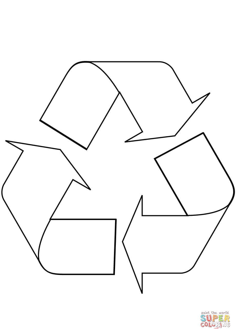 recycle symbol coloring online