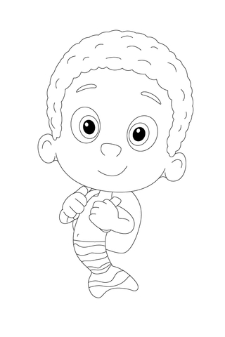 Bubble Guppies Coloring Pages Goby. i love bubble guppies coloring ...